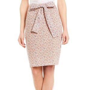 Antonio Melani Cameron Tie Pencil Skirt Sea Rose